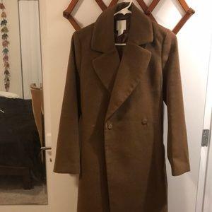 H&M Brown Longline Coat Jacket